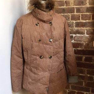 Brunello Cucinello Tan Puffer Jacket Size 48 IT